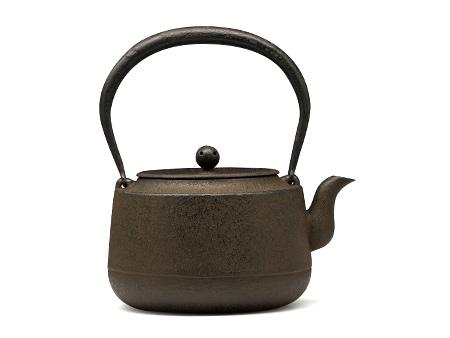 铃木主善堂 广口形素纹铁壶