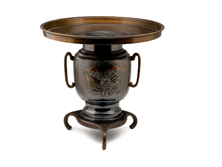 高冈铜器 三足铸铜花瓶【老物件】