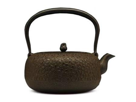岩户铸造所 平丸型樱花铁壶