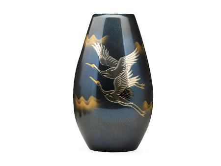 砲形双鹤花瓶