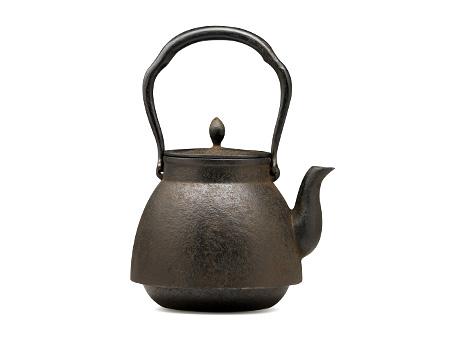 下野典行 茶筅形素纹铁壶