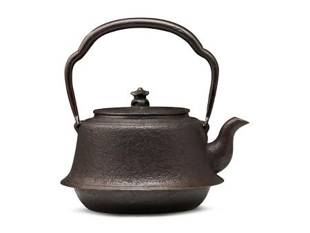 长寿堂  富士形素纹砂铸铁壶