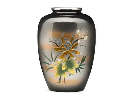高冈铜器 枣形四君子花瓶