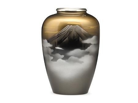 高冈铜器 枣形富士花瓶